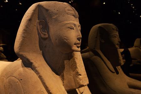 esfinge: Detalle de una esfinge egipcia - Período Ramesside