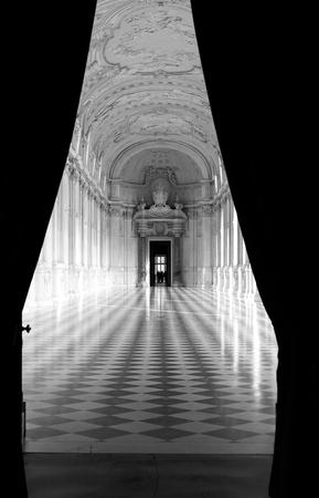 Detail of Galleria di Diana in Venaria, Italy. Luxury royal palace interior Archivio Fotografico