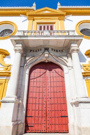 plaza de toros: Detail of Plaza de Toros area in Seville - Andalusia Region - Spain Editorial