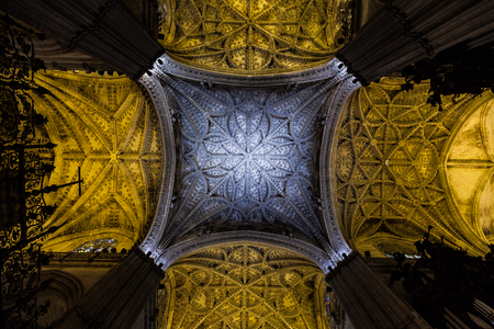 catholic chapel: Plenty of interesting details in this Seville (Spain) Cathedral Interior - 400 years old
