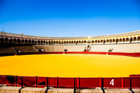toros: The Plaza de Toros de la Real Maestranza de Caballería de Sevilla is the oldest bullring in the world.