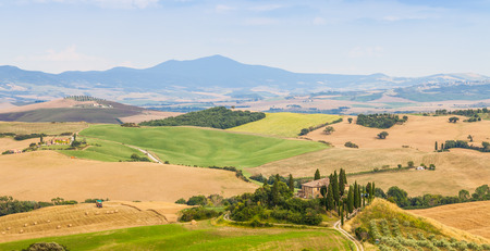 val d'orcia: Tuscany, Val dOrcia area. Wonderful countryside in a sunny day, just before rain arrival