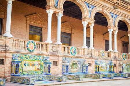 spanish architecture: Spain Square, a landmark example of the Renaissance Revival style in Spanish architecture Editorial