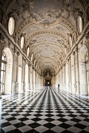 Widok Galleria di Diana Venaria Royal Palace, w pobliżu regionu Piemonte Torino, Publikacyjne