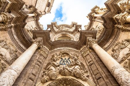 assumption: Spain, Valencia. Detail of the Cathedral - Basilica of the Assumption of Our Lady of Valencia