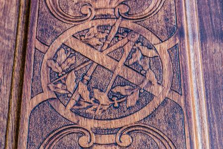 freemasonry: Detail of the  freemasonry door in Turin (Torino) - Italy