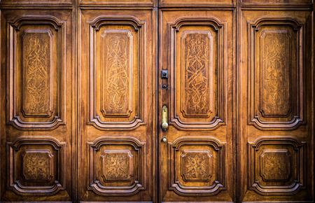 freemasonry: Original freemasonry door in Italy -  authentic door, more than 200 years old Stock Photo