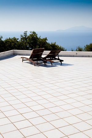 golfo: Terrace on Naples Gulf: two seats with a wonderful view
