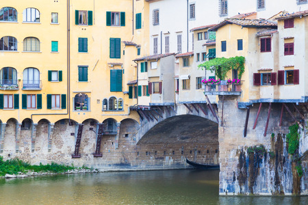 ponte: Detail of the famous landmark Ponte Vecchio in Florence, Italy Stock Photo
