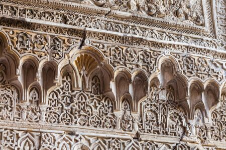 alcazar: Spain, Andalusia Region. Detail of Alcazar Royal Palace in Seville.