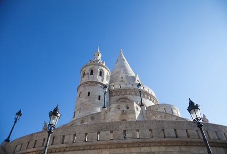 Fishermans Bastion is a terrace in neo-Gothic and neo-Romanesque style, Budapest famous landmark