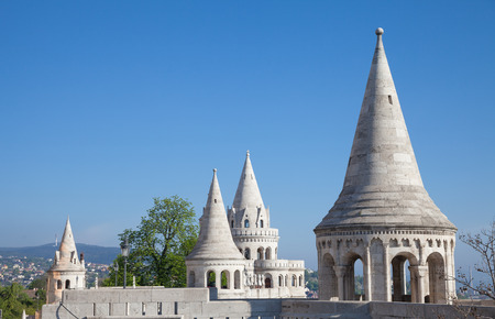 fisherman bastion: Fishermans Bastion is a terrace in neo-Gothic and neo-Romanesque style, Budapest famous landmark