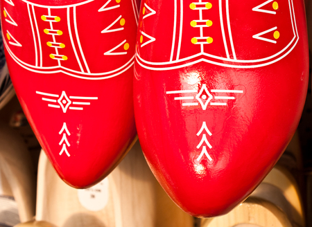 Traditional Amsterdam clogs in a  shop close to the center Stock Photo