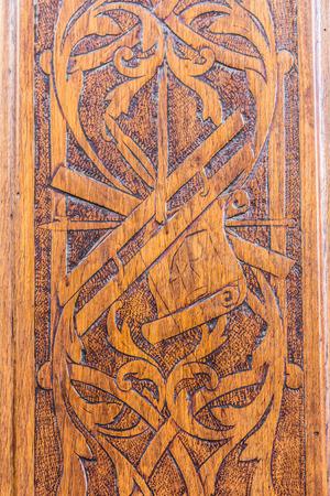 fraternidad: Detail of the  freemasonry door in Turin (Torino) - Italy