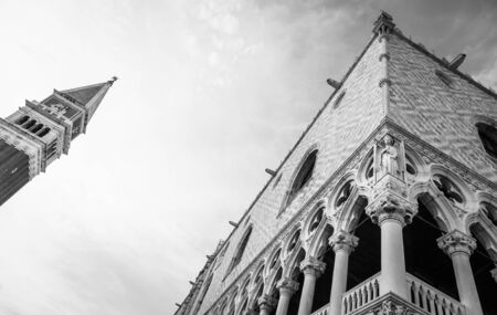 ducale: Detail of the most famous landmark of Venice - Palazzo Ducale
