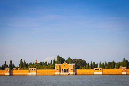 The most beautiful cemetery of the world, on San Michele isle in front of Venice Stock Photo