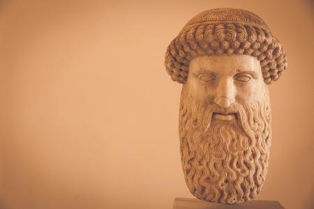 2nd Century AD, marble. Hermes head. Stock Photo