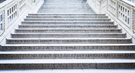 ducale: Venice, Italy. Detail of Palazzo Ducale stairway