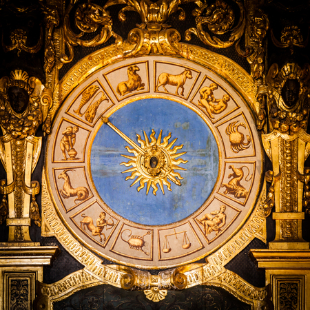 astronomical: Venice, Italy. Detail of the Astronomical Clock in Palazzo Ducale