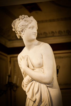 Détail de la statue de Vénus dans le musée le plus impostant de Venise Banque d'images - 74412067