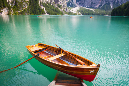 di: This amazing lake is located in the heart of Dolomiti mountains, UNESCO World Heritage - Italy