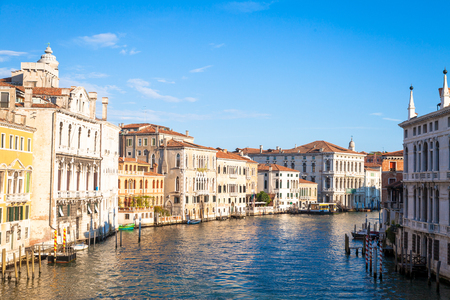 From the Accademia Bridge, one of the most spectacular point of view in Venice Stock Photo