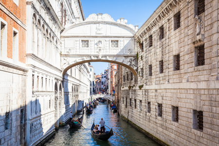 Venices famous Bridge of Sighs was designed by Antonio Contino and was built at the beginning of the seventeenth century Editorial