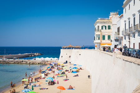 In the most cool location of Puglia Region (South Italy), a costal panorama with a wonderful blue sky Editorial