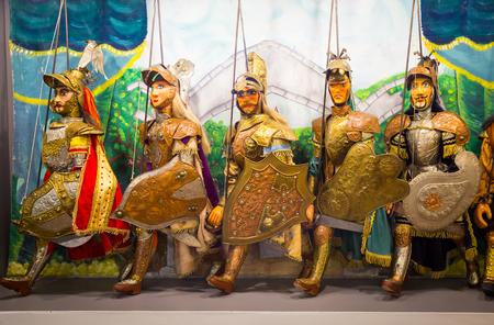 Original Pupo Siciliano (Sicilian puppets, Italy). The Sicilian puppets theatre is UNESCO Heritage.