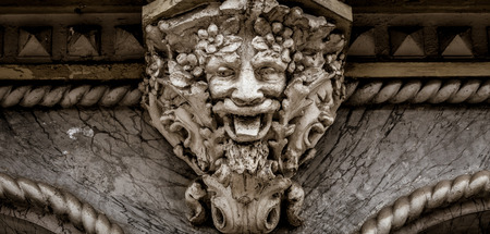 Italy, Turin. This city is famous to be a corner of two global magical triangles. This is a protective mask of stone on the top of a luxury palace entrance, dated around 1800