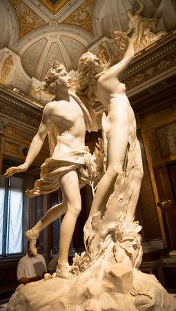 ROME, ITALY - AUGUST 24, 2018: Gian Lorenzo Bernini masterpiece, Apollo e Dafne, dated 1625 Redakční