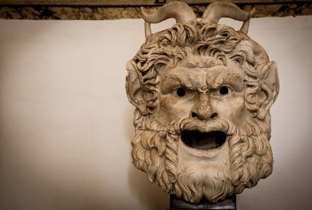Satan head made of marble, useful for Satanic concept