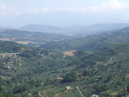 Green valley placed in country in southern Italy photo
