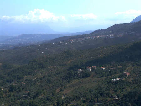 a view of italian village of south photo