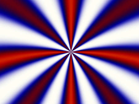 irradiate: Stripes that start from common center and have the colors of England  and USA flags Stock Photo