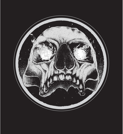 devil's bones: Vector illustration of skull tattoo