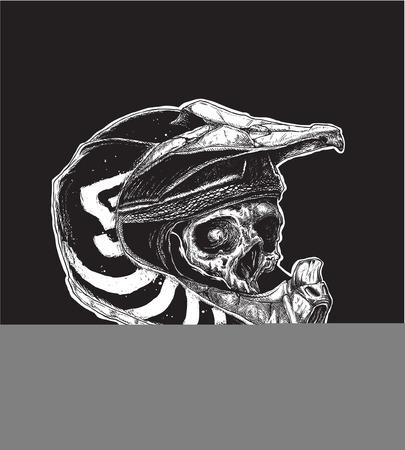 tete de mort: Illustration vectorielle de crâne