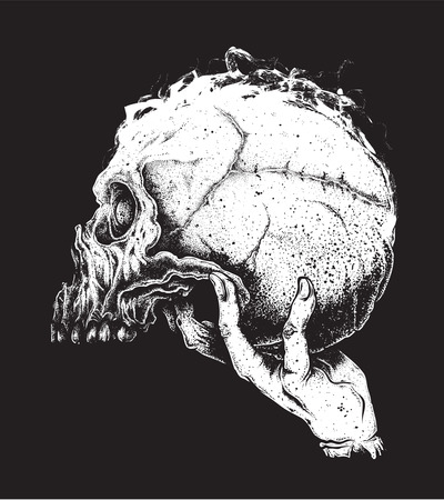 calaveras: Ilustración vectorial de cráneo