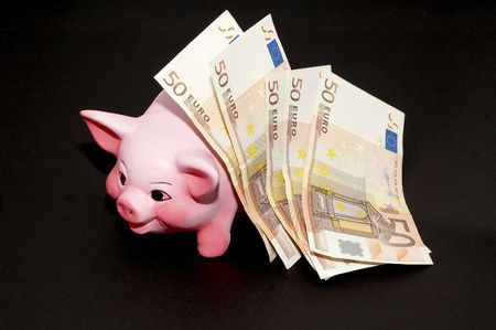 piggy bank and euro cash Stock Photo - 895324