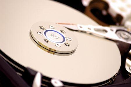 Hard disk close-up