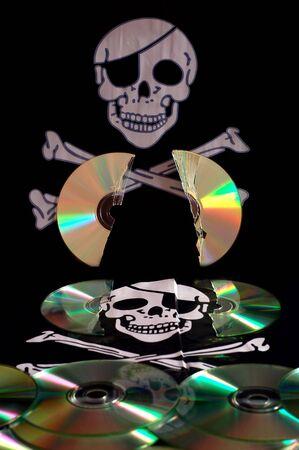 Software piraterij Stockfoto