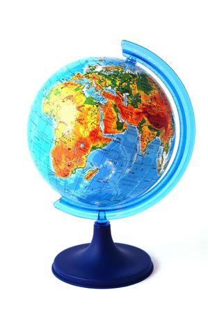 Wereld op een witte achtergrond