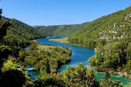 River Krka in Croatia