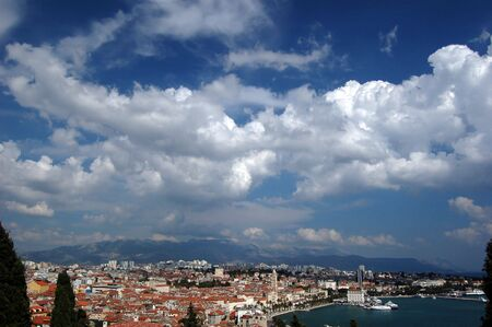 Postcard from Split in Croatia Stock Photo - 3198052