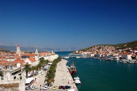 Postcard from Trogir in Croatia Standard-Bild