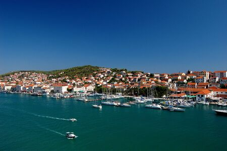 Postcard from Trogir in Croatia 免版税图像