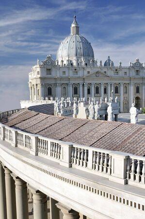 Saint Peter's Basilica in Vatican 免版税图像