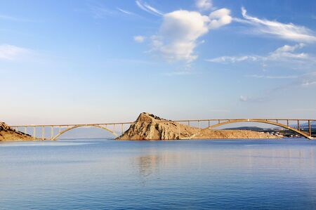 Bridge on island Krk in Croatia