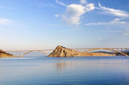 Bridge op eiland Krk in Kroatië Stockfoto