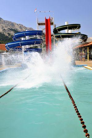 Water slide 免版税图像